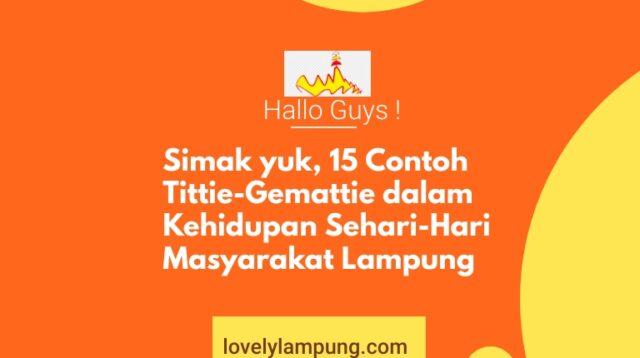 Titie Gemattie Adat Masyarata Lampung